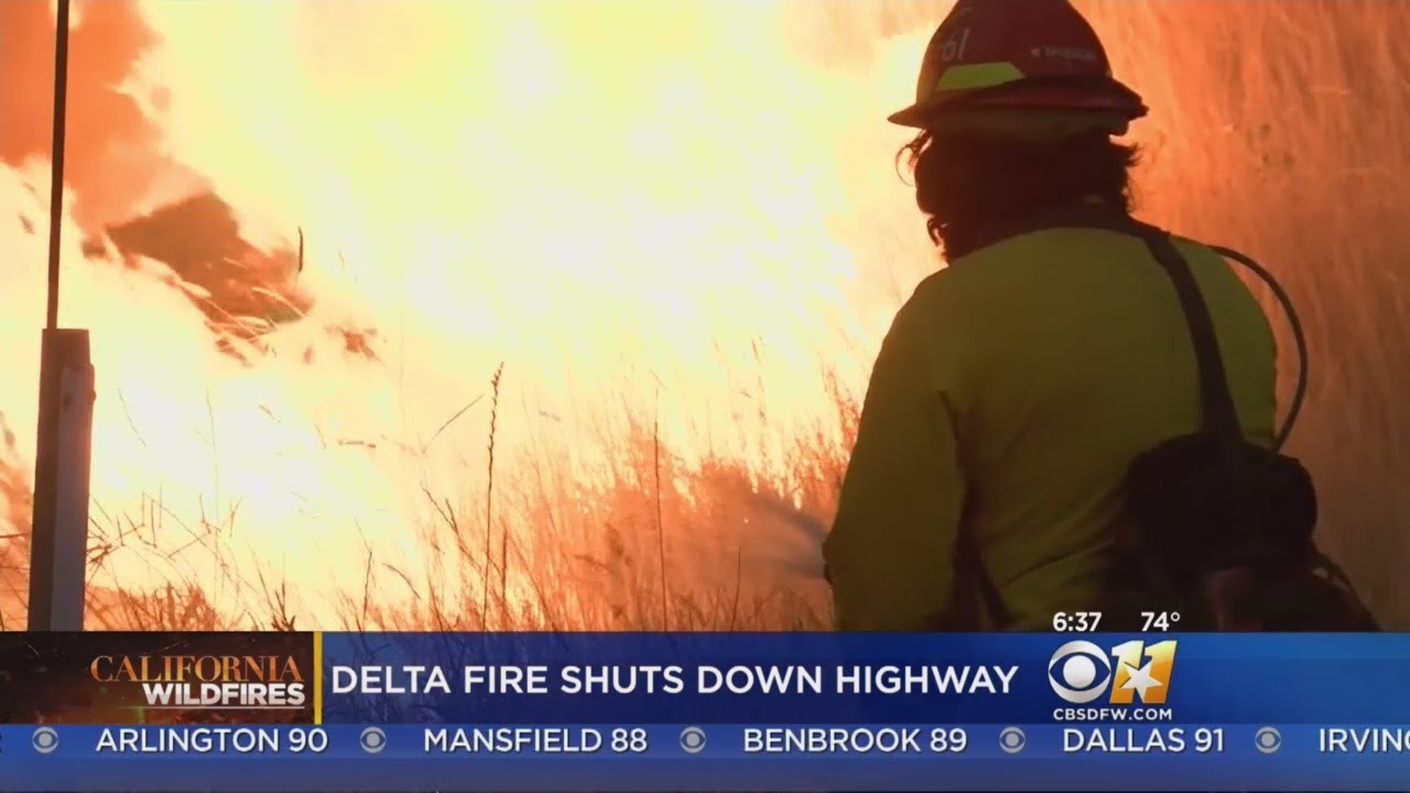 Main California Highway Closed By Fire Until Declared Safe