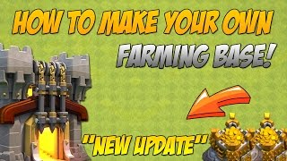 Clash Of Clans - How To Make Your Own Farming Base!