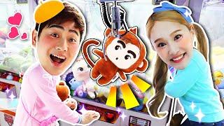 강이VS지니 어린이날 인형뽑기 대결 놀이 claw machine challenge