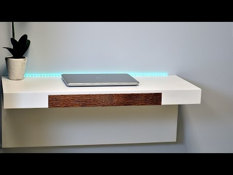 Make a Wall Mounted Desk With a Secret Compartment Underneath