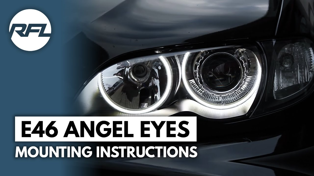 Led Auto Verlichting Bmw 3 Serie E46 Led Angel Dimmable Eyes Mounting Instructions