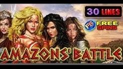 Amazons' Battle - Slot Machine - 30 Lines + Bonus