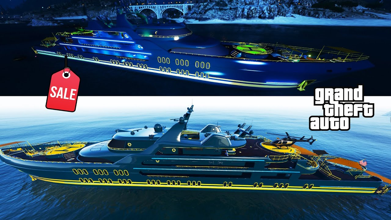 YACHT Review & Best Customization SALE NOW ! GTA 5 Online Most Expensive Thing MONEY CAN BUY! LUXURY