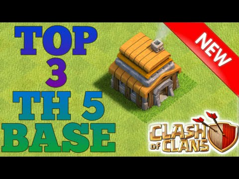 Clash Of Clans | Top 3 BEST Town Hall 5 Base 2017 | CoC Th5 Defense Strategy | Clash Of Clan Base