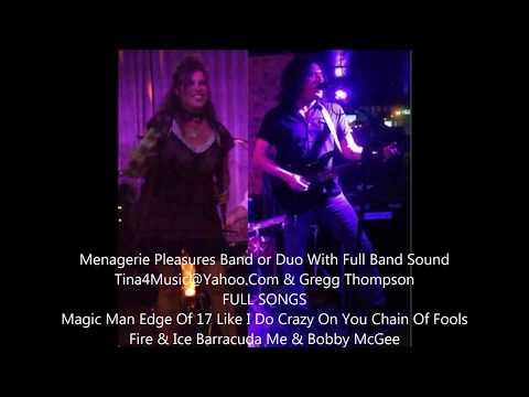 Menagerie Pleasures Tina & Gregg Magic Edge Like I Do Crazy Chain Fire Ice Barracuda BobbyMcGee