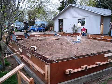 Garage Project Monday April 26 Stem Wall Foundation Form