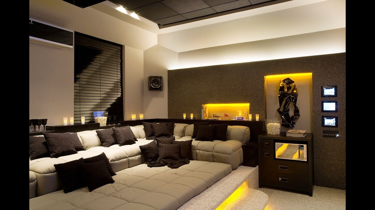 interior design living room modern contemporary white sets home theater ideas - youtube