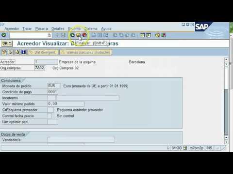 Transacción en SAP