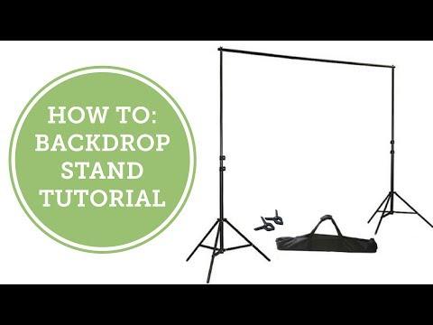 How To: Backdrop Stand Tutorial | BalsaCircle.com