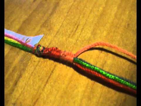 браслет со знаком бесконечности из резинок