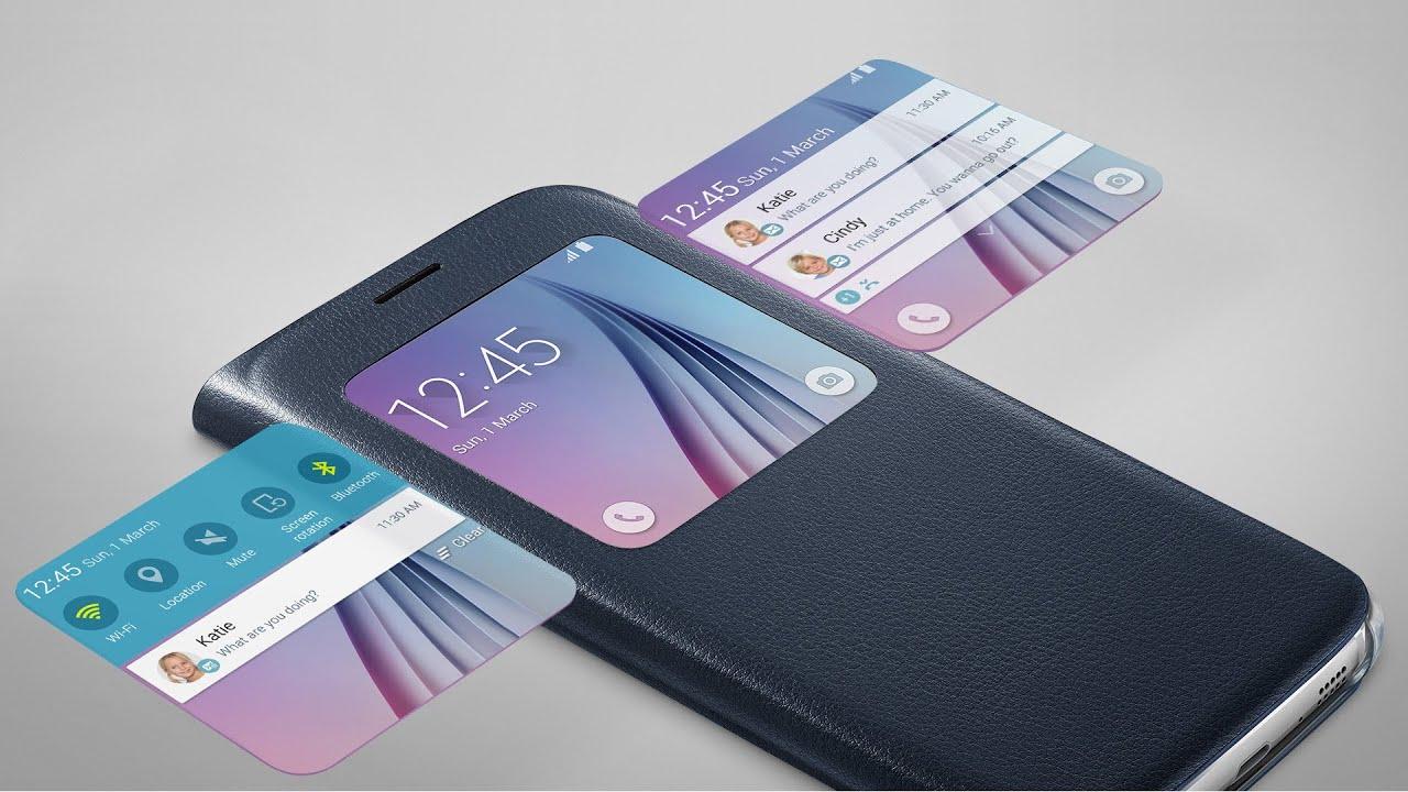 Prezentare Husa Samsung S-View Cover pentru Samsung Galaxy S6