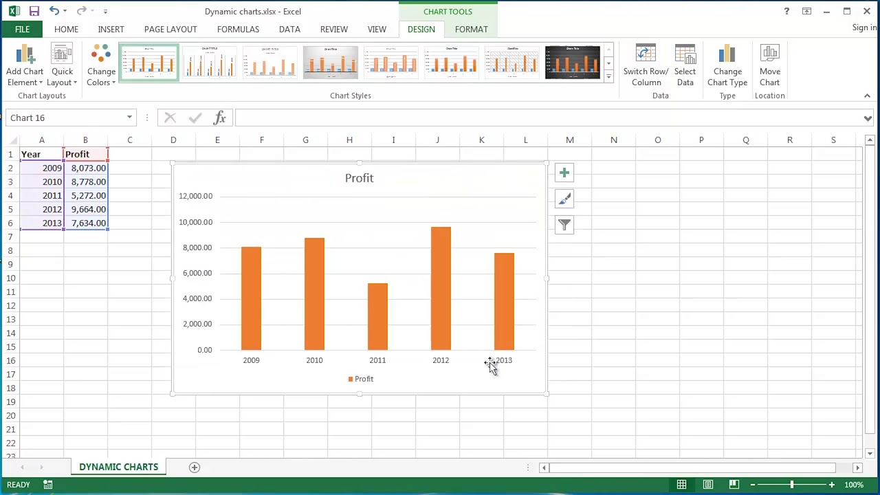 Creating dynamic charts in microsoft excel part also youtube rh