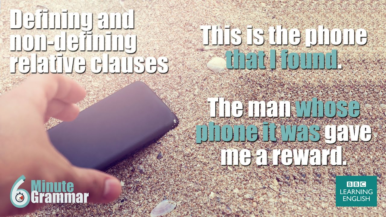 Grammar Using Defining And Non Defining Relative Clauses