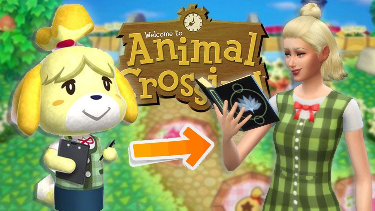 sims 4 cas isabelle animal crossing youtube