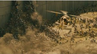 World War Z Best Scene Zombies Over The Wall In Hindi