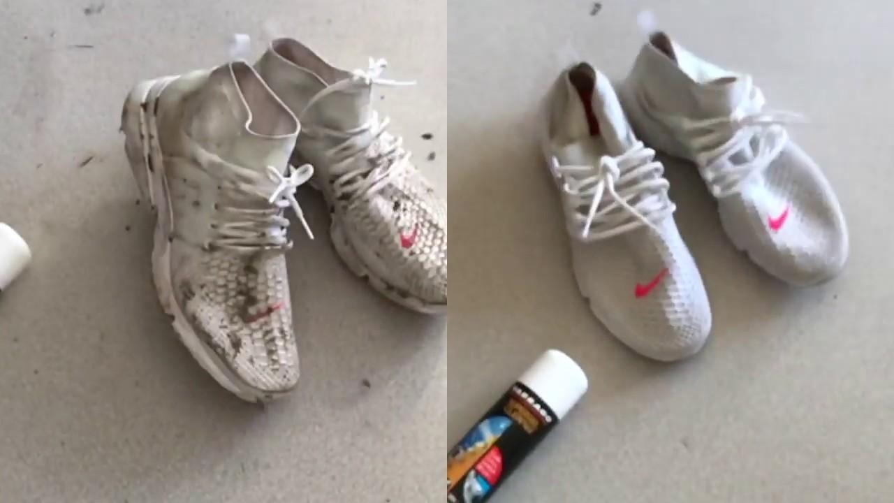 Jak Wyczyscic Biale Kicksy Nike Z Siateczki Tarrago Super Gel Cleaner Youtube