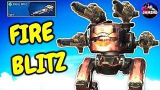 FIRE BREATHING BLITZ BLITZ BLAZE Gameplay War Robots MK2 WR