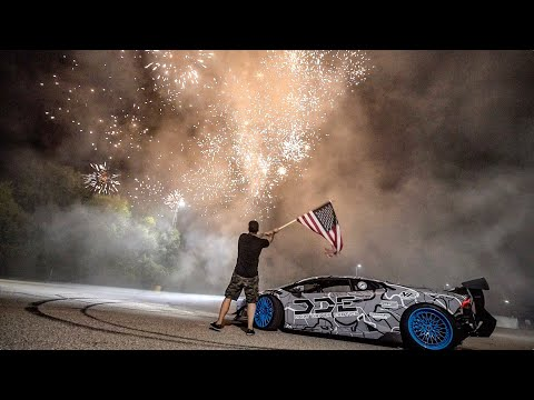JULY 4TH FIREWORKS DESTROY LAMBORGHINI TIRES!