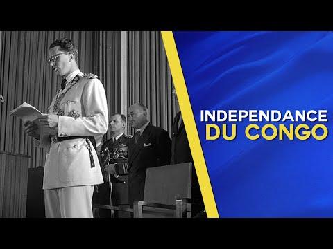 Koning Boudewijn roept de onafhankelijkheid van Congo uit op 30 Juni 1960