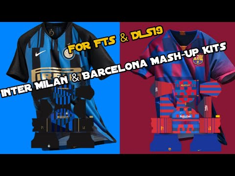 ac8ee8a0e FTS   DLS 19.Nike Inter Milan   Barcelona Mash-Up Kits - YouTube