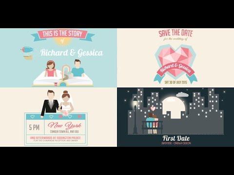 Wedding invitation and love story slideshow after effects wedding invitation and love story slideshow after effects template youtube stopboris Gallery