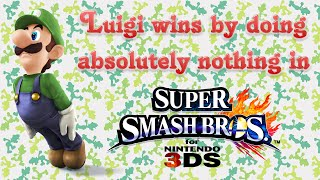 Super Smash Bros. 3DS - Luigi wins by doing absolutely nothing