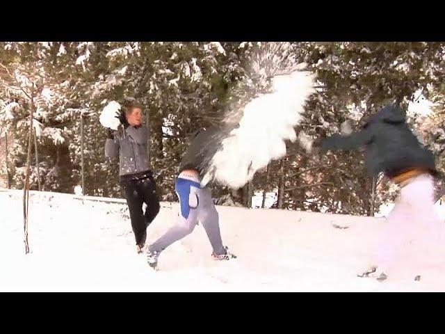 Южная Европа под снегом