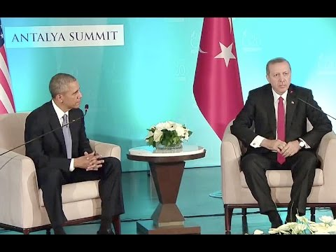 The President Meets with the President of Turkey
