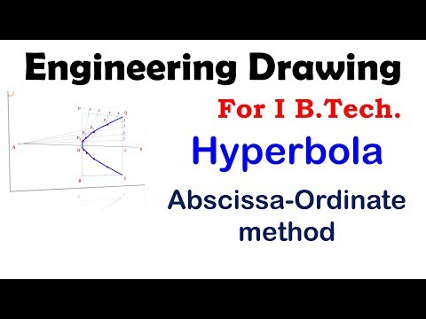 Construction of #Hyperbola by Abscissa Ordinate method #Engineering #Drawing