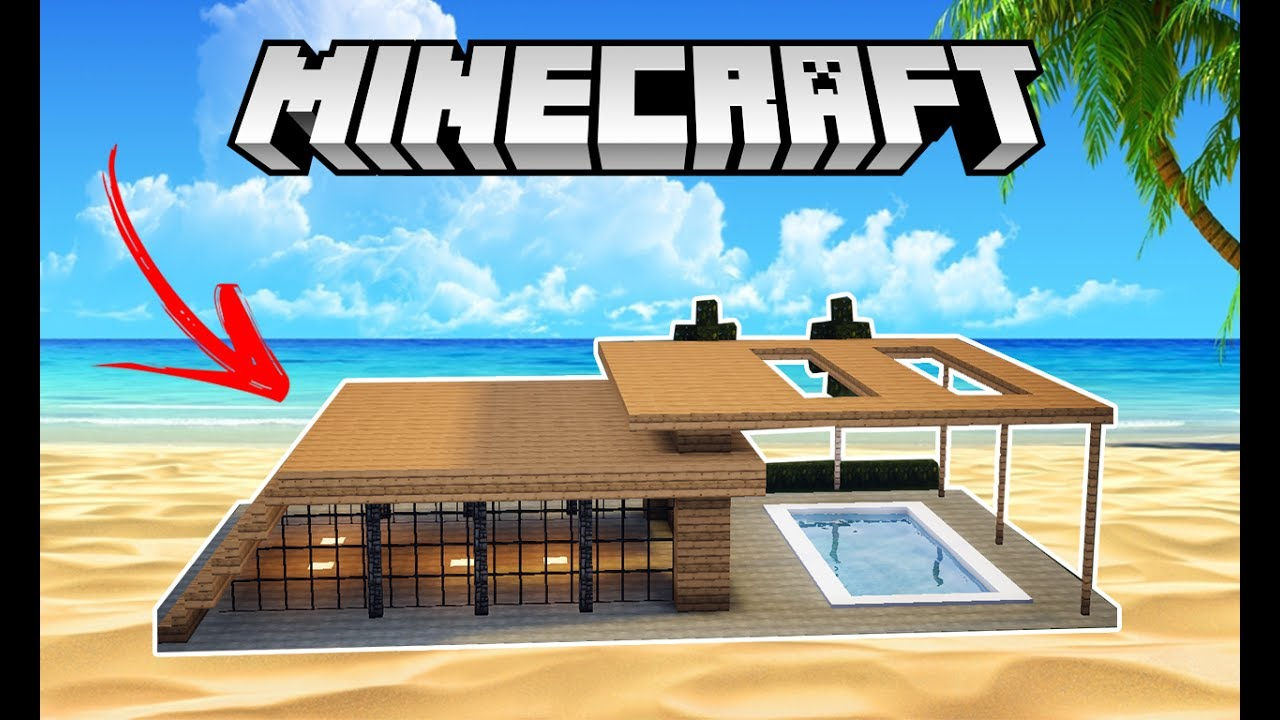 Minecraft tutorial casa moderna de praia youtube for Casa moderna minecraft 0 10 4