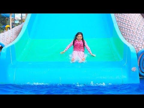 شفا خافت في الحديقة المائية !! water park playground pool