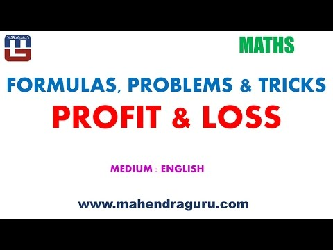 Formulas, Problems &Tricks : Profit & Loss - English Version