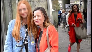 Uśmiechnięta Agata Kulesza rozchwytywana przez fanów pod TVN-em