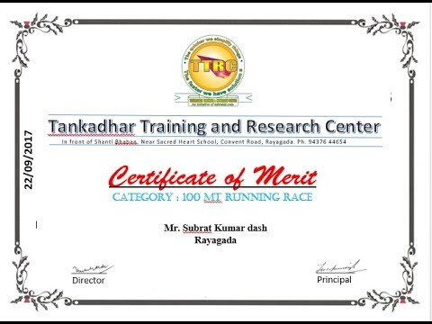 Job skill | #1 | certificate of merit using Microsoft Word 2