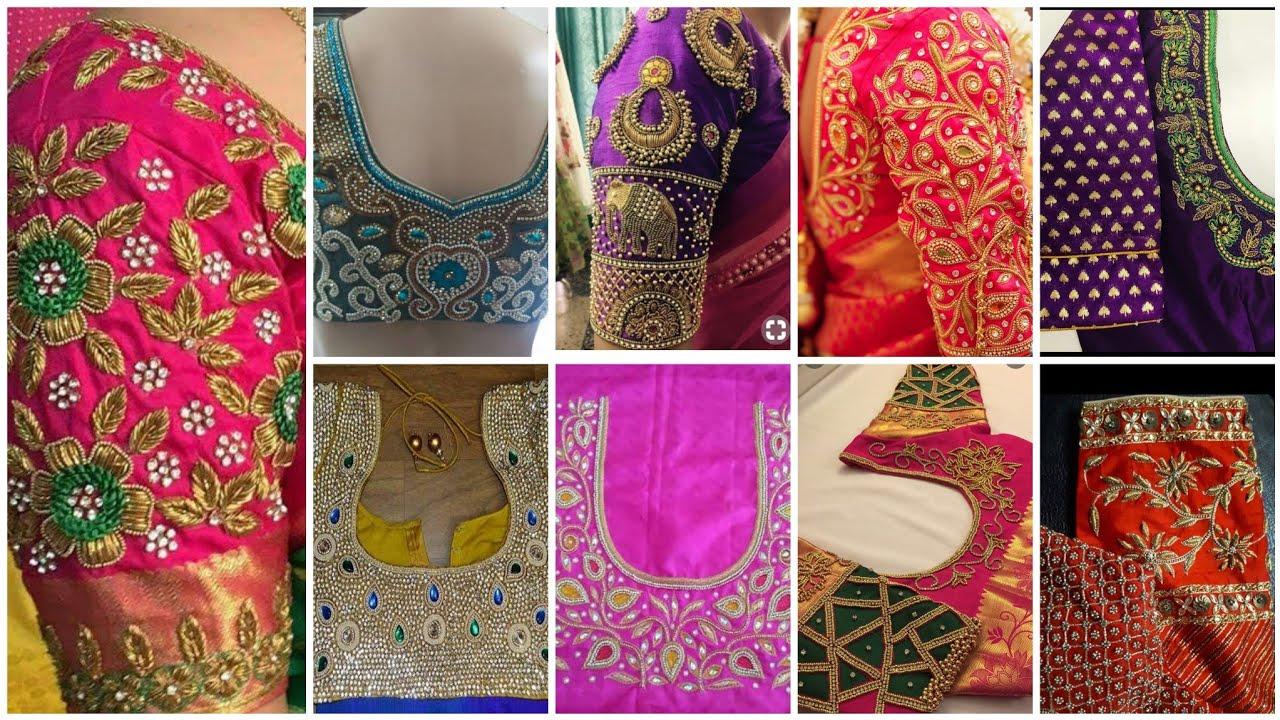 f2c5d546bf3c50 Aari blouse making tailoring shop at sowkarpet  Bridal blouse design with  price