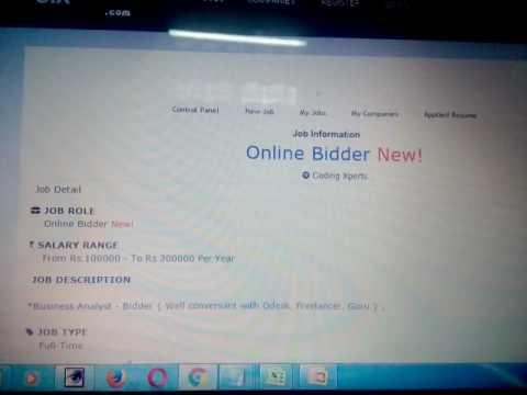online bidder job in chandigarhmohali