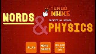 Words and Physics Walkthrough