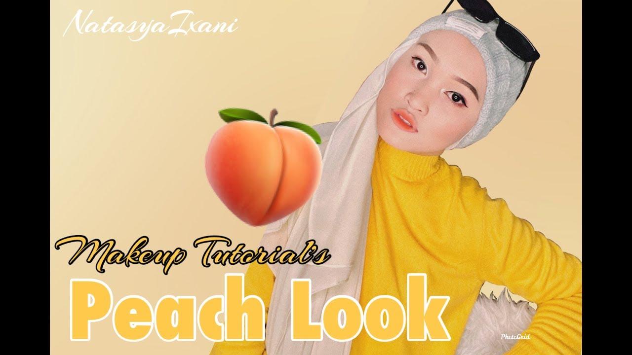 Peach Look! 🍑 Simple & Easy Makeup Tutorial | Natasyaixani