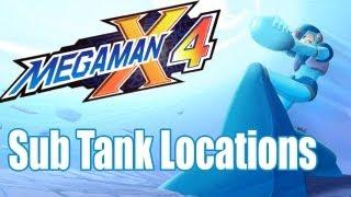 Megaman X4 Sub Tank Locations