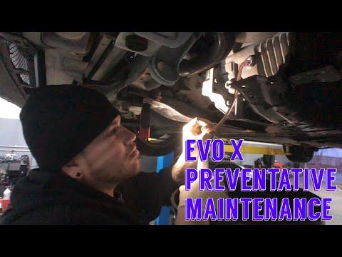 Preventative maintenance on the EVO X