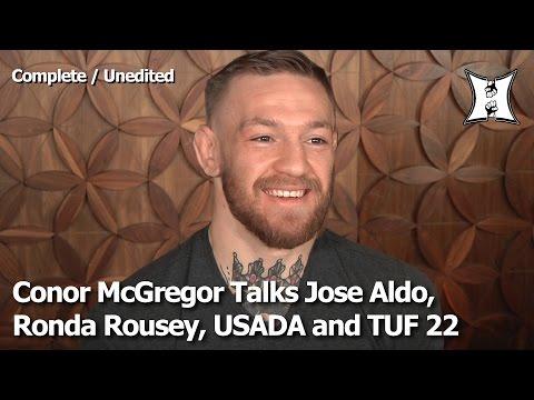 "Conor McGregor Talks UFC 194 Fight With Aldo, ""Panic Wrestlers,"" Ronda's Loss + USADA Flaws"