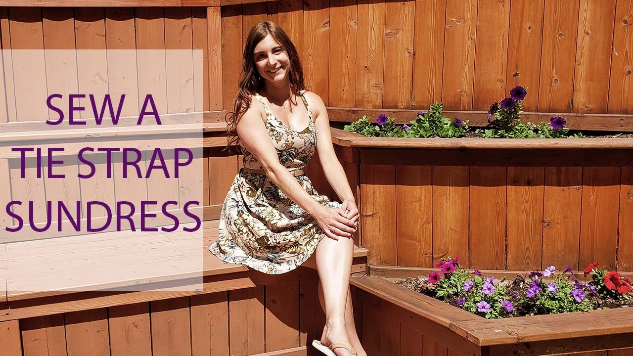 How to Sew a Tie Back Sundress a SEW ALONG from Rebecca Page Patterns