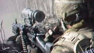 U.S. Recon Team Assaults Taliban Position Under Fire