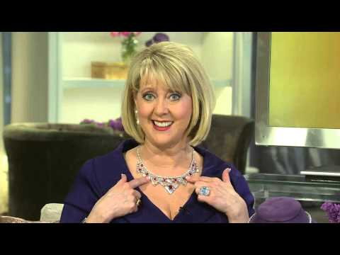 The Elizabeth Taylor 6.40cttw Legacy of Love Simulated Ruby Necklace with Mary Beth Roe