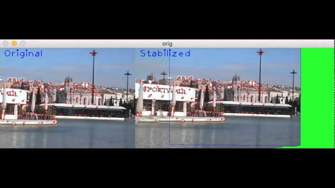 Simplest 20-lines OpenCV video stabilizer [w/ code] | More Than