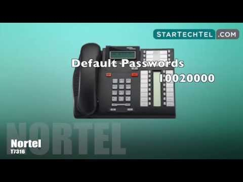How To Reset Voicemail Passwords On The Nortel T7316 Phone