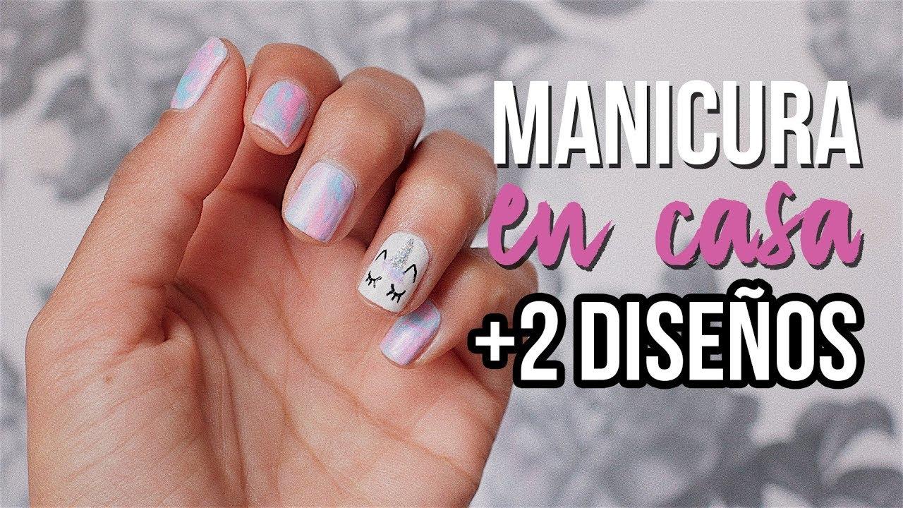 U as unicornio f ciles c mo hago mi manicura en casa anavbon youtube - Manicura semipermanente en casa ...