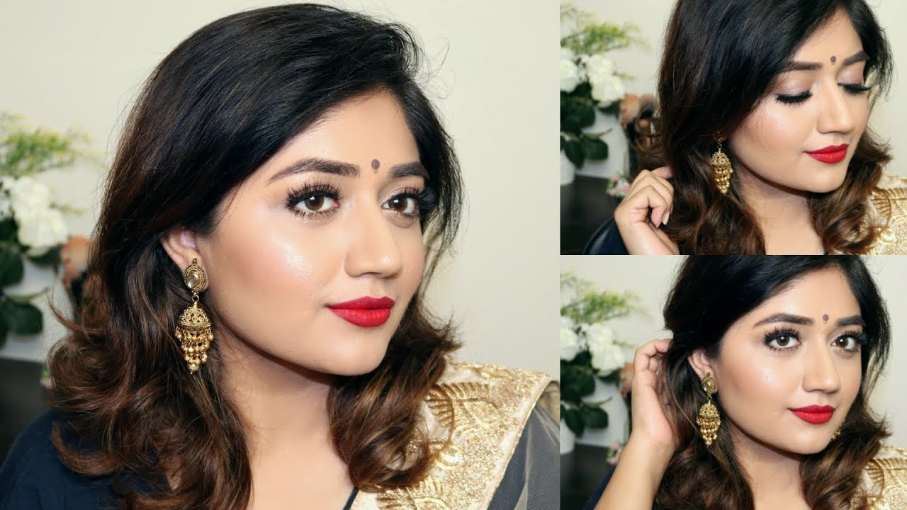 Indian Festive Makeup Tutorial Red Lips Clista You