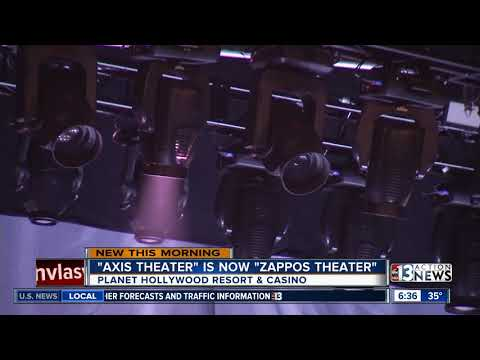 Axis theater is now called Zappos Theater