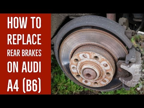 How to replace rear brake pads on an Audi A4 (B6)